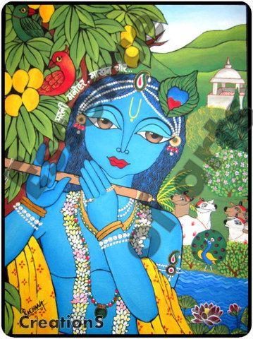 Morli Manhar (Bal Krishna) - PRINT. $25.00, via Etsy.
