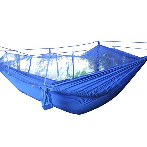 Great Camping Hammock : Famoney Mosquito Net Hammock 2Person Portable Parachute Double Camping Hammocks Kit with Carabiners and Hanging RopeLightweight Parachute Fabric For Camping Hiking Backpacking Backyard BlueFamoney Mosquito Net Hammock 2Person Portable Parachute Double Camping Hammocks Kit with Carabiners and Hanging RopeLightweight Parachute Fabric For Camping Hiking Backpacking Backyard Blue ** Check out this great product. Note:It is Affiliate Link to Amazon.