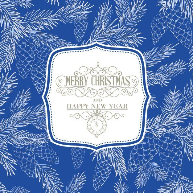 Рождественские синий фон Premium векторы