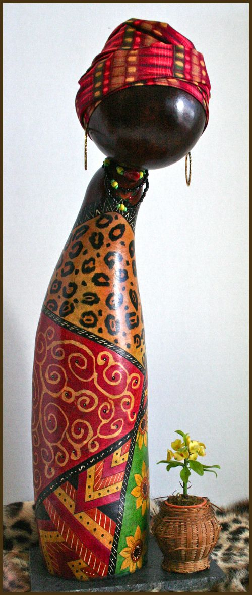 African Gourd Doll Zuri By Norma Photograph By Maria