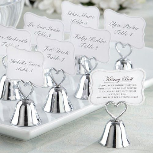 bell place card holders on your wedding