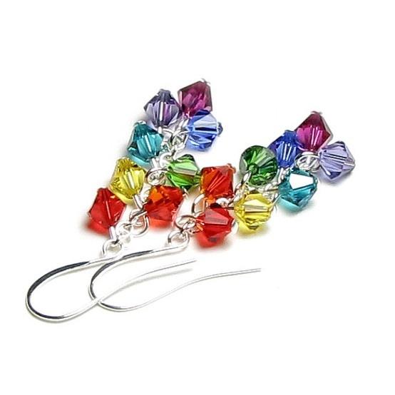 Fülbevaló inspiráció Swarovski Elements #5328 XILION Bead kristály gyöngyökből