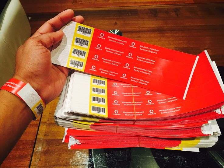 5000 Tyvek Wristbands for Vodafone.  Why Tyvek? They are tough paper, one time use bands. Great for events and parties.