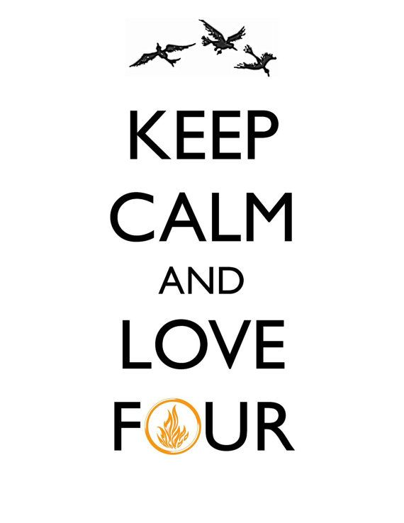 """Handmade print, KEEP CALM, """"Divergent"""", 8"""" x 10"""" and 8 1/2"""" x 11"""", Four, Dauntless faction symbol, action-packed film on Etsy, $7.00"""