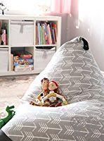 MiniOwls TOY STORAGE BEAN BAG - fits 200L/52 gal - Stuffed Animal Organizer in Gray - Large, Soft & Comfy Cover that Creates Cozy Lounger Bed - 3% donation to Autism Foundation: Amazon.co.uk: Kitchen & Home