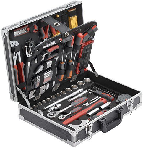 Meister Valise à outils 129 pièces, 8971410: Dimensions: 485 x 400 x 175 mm Rangement pratique dans une valise à cadre aluminium Contours…