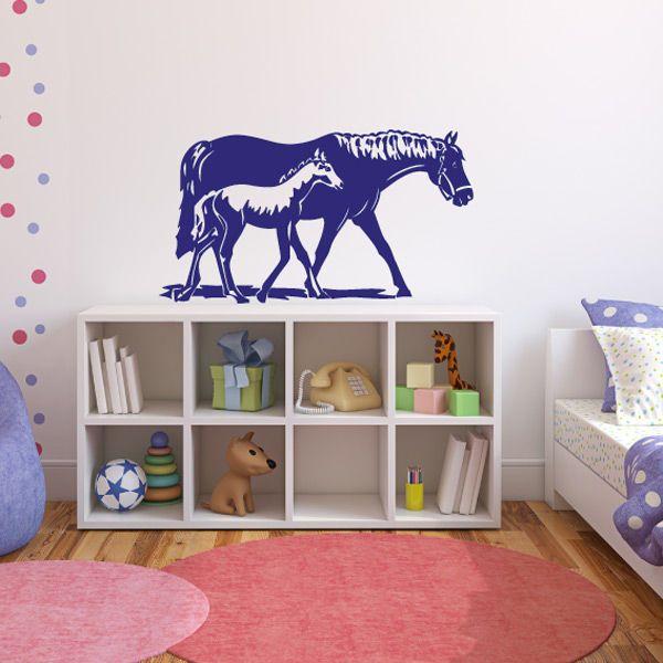 Simple Pferd Fohlen Wandtattoo Wandaufkleber Pferde Kinderzimmer