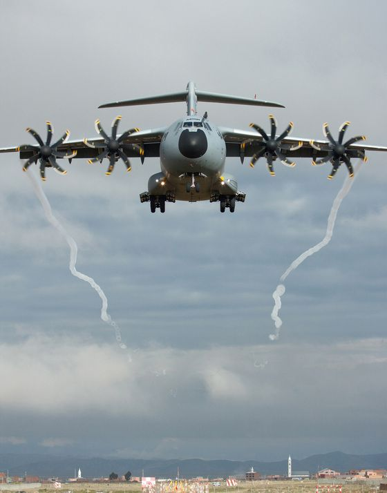 A400. The Airbus A400M Atlas, is a multi-national four-engine turboprop military transport aircraft.