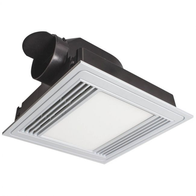 Brilliant - Tercel LED Panel Light With Square Exhaust Fan - White