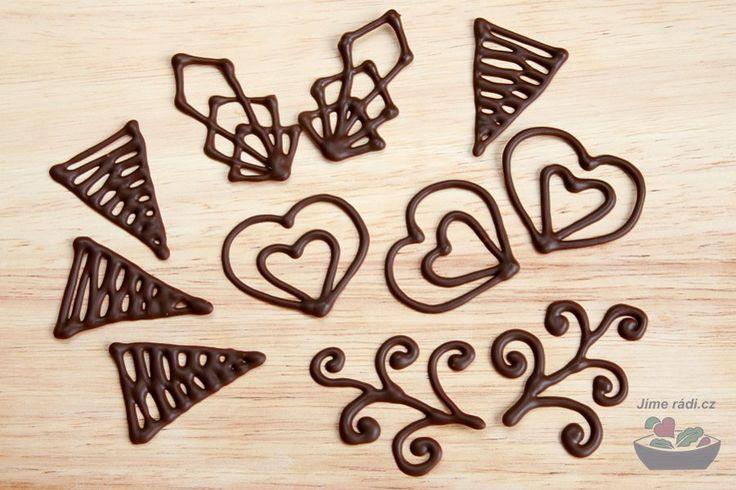 Návod na čokoládové ozdoby I. – filigrány