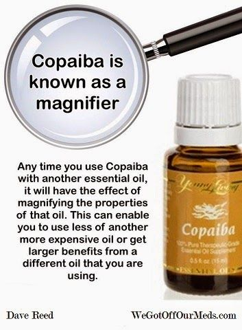 "Copiaba Essential Oil is an anti-inflamatory giant & Heart healthy! Copaiba - Feel a difference in just 10 minutes! It's totally amazing! Copaiba (pronounced ""Ko-pah-ee-bah"") essential oil is potentially the highest anti-inflammatory substance known to man either natural or synthetic. It has greater anti-inflammatory action than Ibuprofen or even Cortisone – and with NO SIDE EFFECTS!"