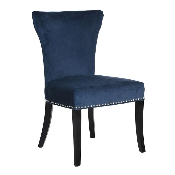 Characterised By A Ring Of Silver Studs Around Its Seat Edge The Denver Dining Chair