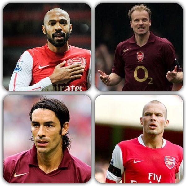 The Fantastic 4!!! Thierry Henry, Dennis Bergkamp,  Robert Pires and Freddie Ljumberg!!!
