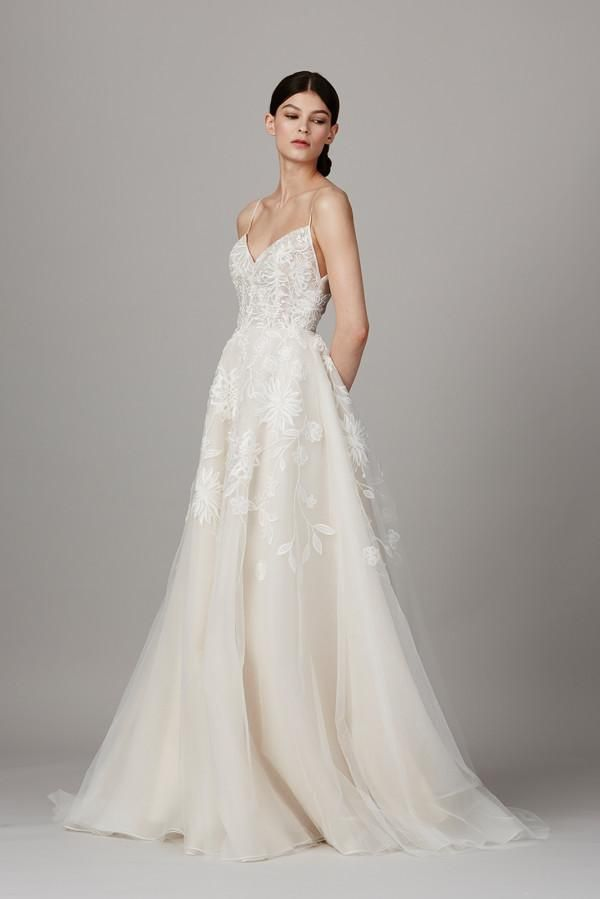 Lela Rose 'The Altar' size 12 used wedding dress front view on model