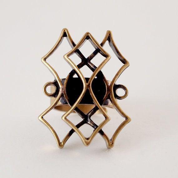 Pentti Sarpaneva, vintage modernist bronze ring, 1960's. #Finland | FinlandJewelry.com