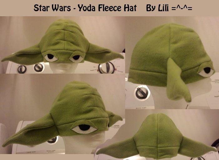 Yoda Fleece Hat by *LiliNeko on deviantART