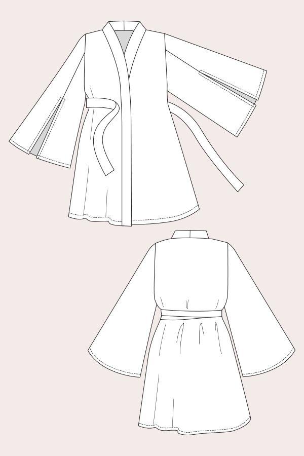 Asaka Kimono | fashion sewing Ideas | Pinterest | Kimonos ...