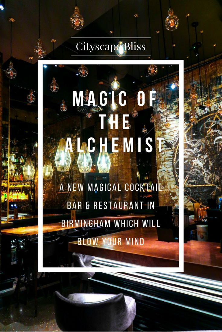 Explore The Alchemist  A New Magical Cocktail Bar On Colmore Row, In The  Building
