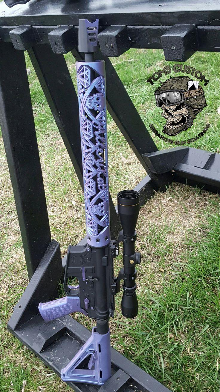 Our Custom Mix Purple Haze Cerakote AR15 - Toms Custom Guns