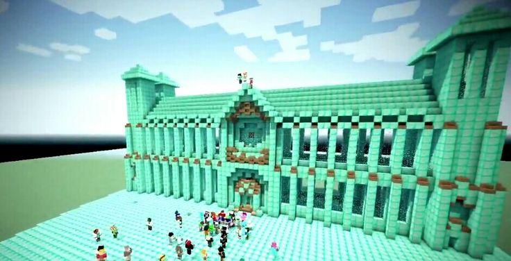 Diamond mansion! | Minecraft stuff | Minecraft, Mansions ...