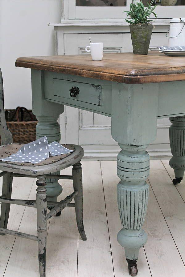 distressed antique farmhouse kitchen table. beautiful ideas. Home Design Ideas