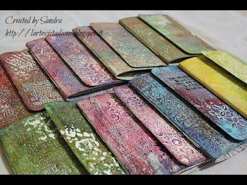 ▶ Mini Art Journal con gelli printing plate - Tutorial - Lartevistadame - YouTube