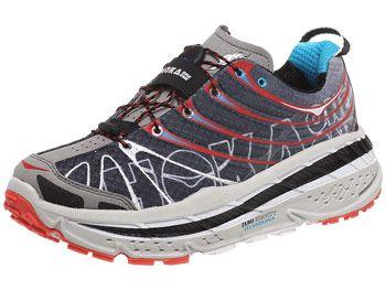HOKA Stinson Trail Men's Shoes Black/Red/Cyan