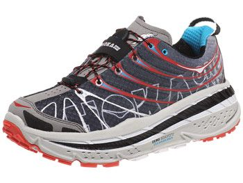 HOKA Stinson Trail Men's Shoes Black/Red/Cyan