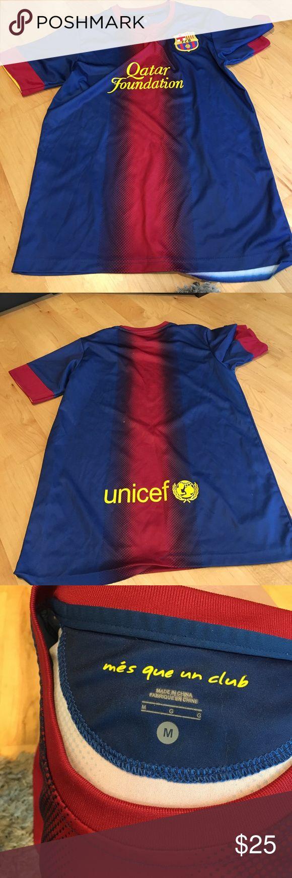 FC Barcelona Jersey Used once FC Barcelona shirt, smoke free home size medium Tops
