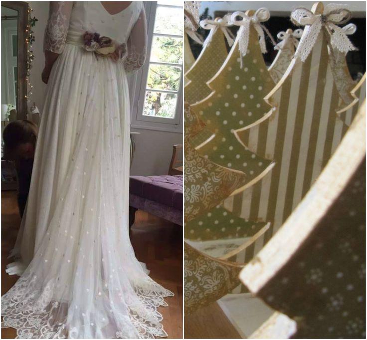 fb:Antigoni Bisaraki Handmade Creations #christmaswedding #handmade #centerpieces #christmaschic #decoration #weddingguestgift #christmastree #madamshoushou