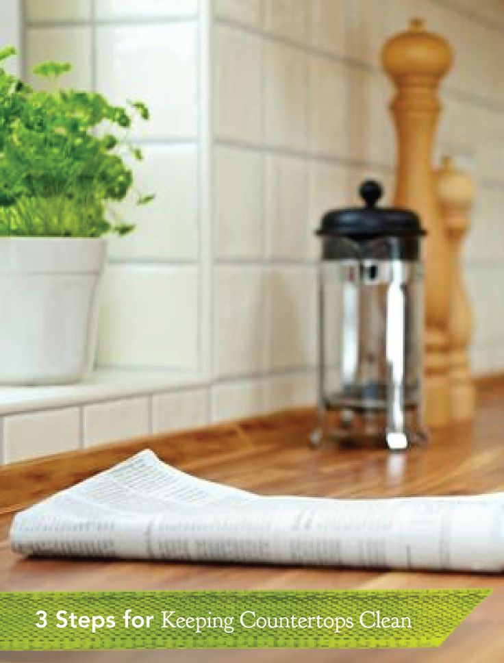 Clean Your Kitchen Countertops In 3 Easy Steps!