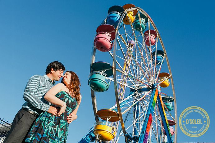 Hastings Park engagement photo session #ferriswheel #engagement