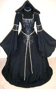 Medieval Dress L XL 2XL 3XL 20 22 24 Gothic Witch Vampire Costume ...