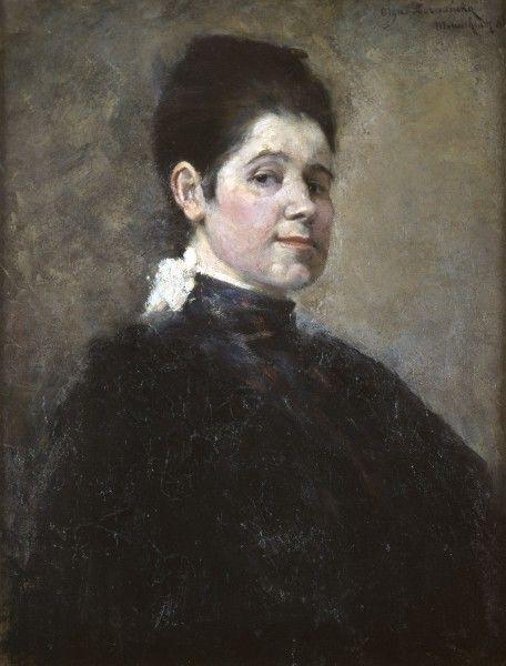 """Olga Boznańska, """"Autoportret"""", 1888, wł. Muzeum Uniwersytetu Jagiellońskiego Collegium Maius"""
