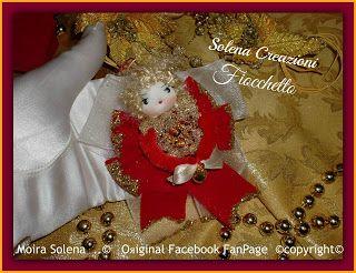 FIOCCHETTO... angioletto piccolo piccolo da regalare o appendere all'albero di Natale.