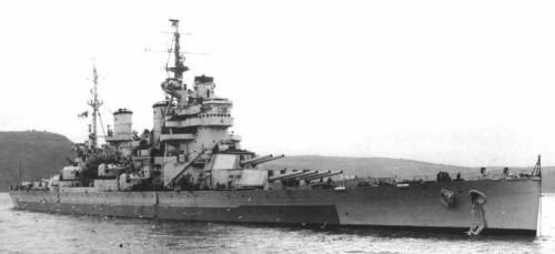 HMS Anson (79) of the Royal Navy - British Battleship of the King George V class - Allied Warships of WWII - uboat.net