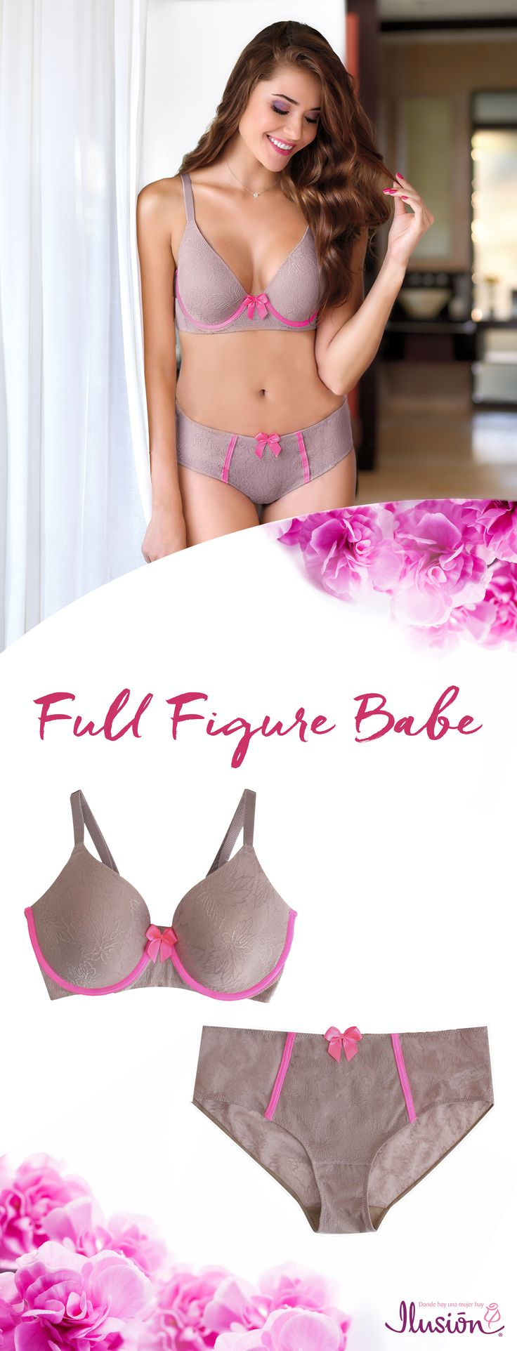 Cute Lingerie for Full Figure body times. Plus size can be super cute and stylish too! Lets say good bye to ugly bras!