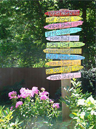 Plaquinhas multi-coloridas para enfeitar o jardim