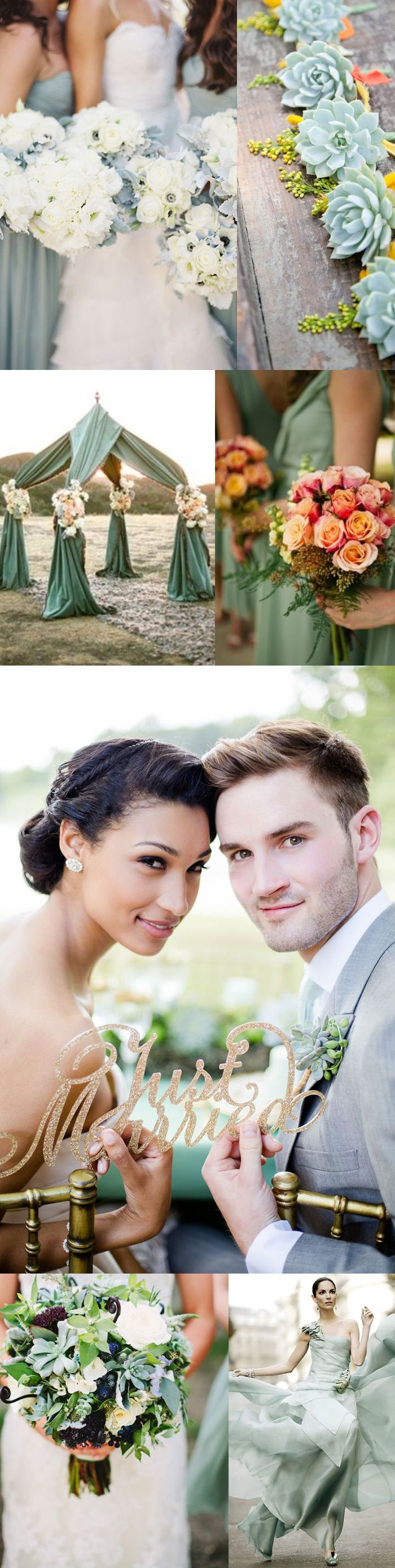 Featured Wedding Color – Grayed Jade A