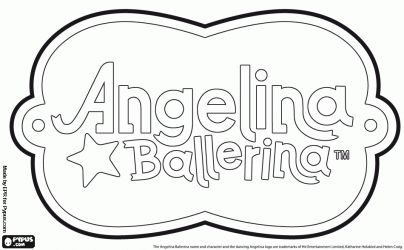 Angelina Ballerina logo coloring page