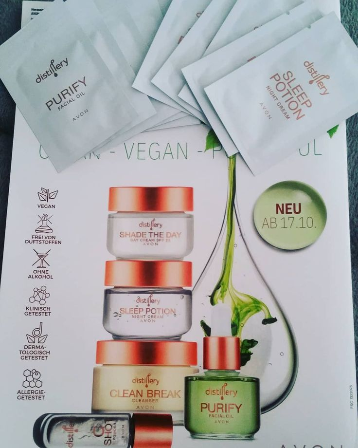 Clean – Vegan – Powerful Neu ab 17.10.2019 Avon wird Vegan mit Distillery 😍 W… – Jobs Ideas
