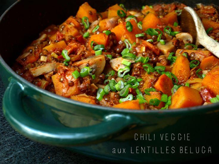 Chili végétarien aux lentilles beluga « Cookismo   Recettes saines et faciles