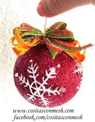 Cómo hacer esferas navideñas económicas y fáciles