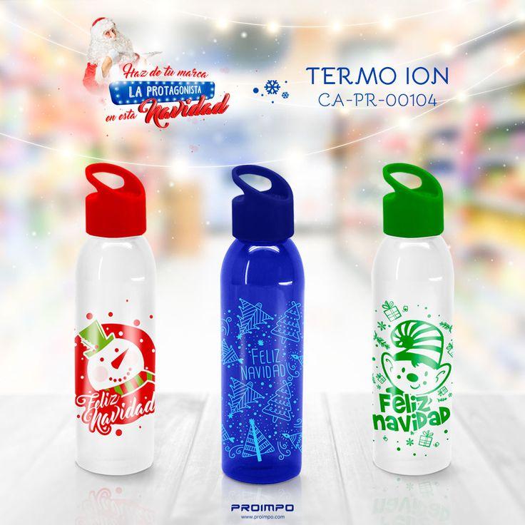 Termo ion promocional navidad. Botella Kripton promocional navidad. Estrategias de marketing