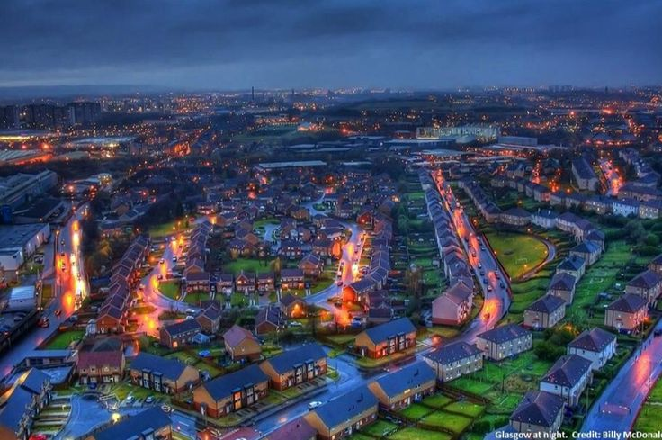 #visitscotland picture of Glasgow at night from Billy McDonald