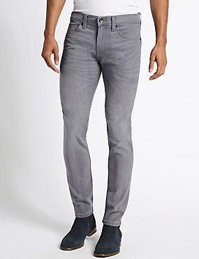 Skinny Fit Stretch Jeans #denim #jean #jeans #men #man #fashion #style #marksandspencer #erkek #kot #pantolon