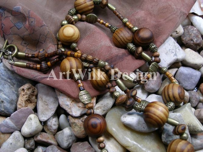 Wooden jewellery by ArtWilk