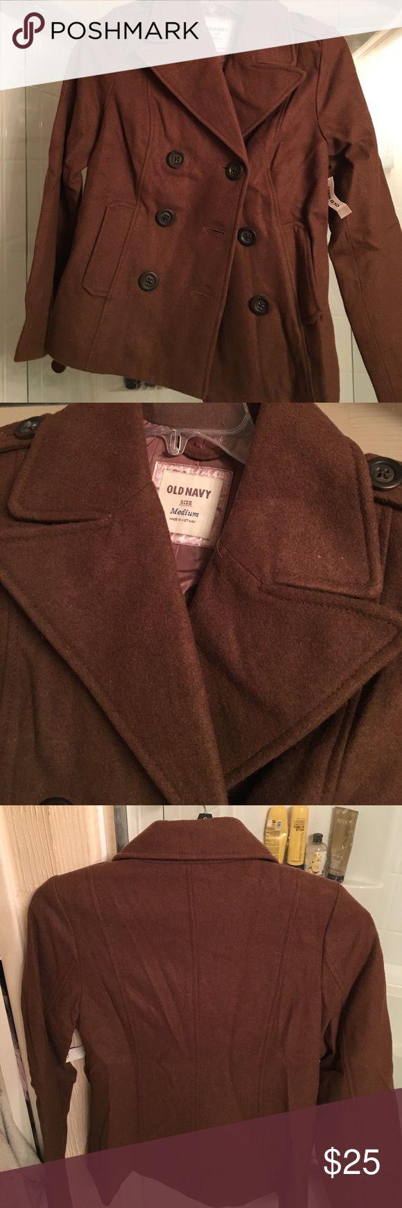 New Old Navy pea coat brown medium NWT New with tags old navy brown pea coat medium Old Navy Jackets & Coats Pea Coats