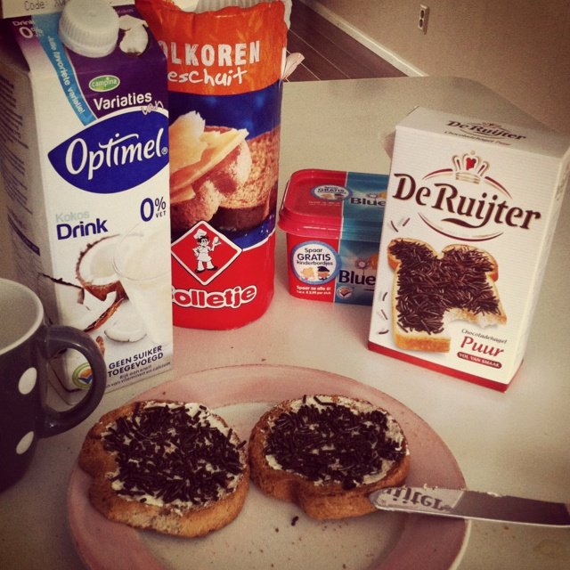 Typical Dutch breakfast