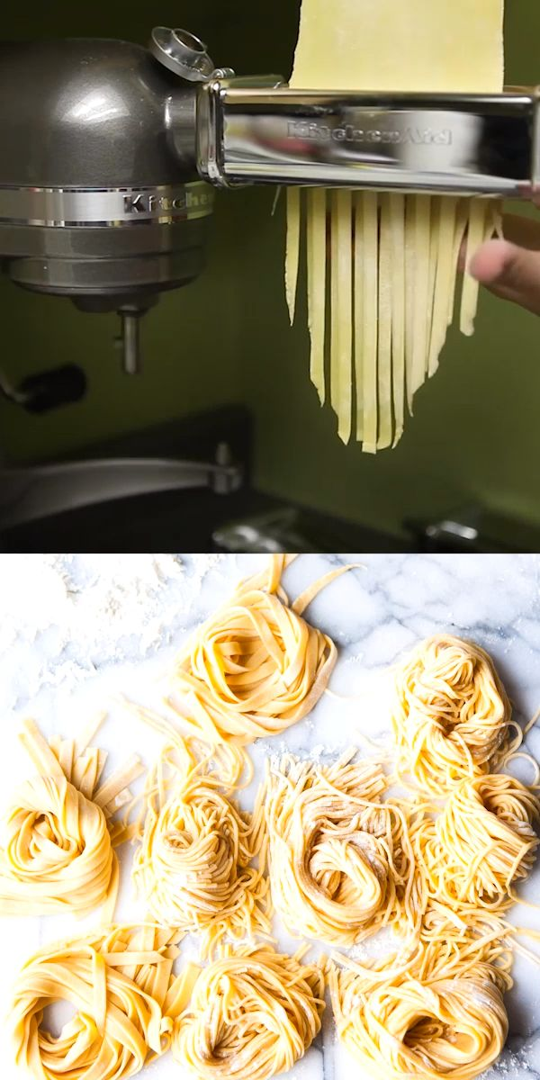 How to make homemade pasta with the KitchenAid pasta attachment   – The Little Kitchen Recipes
